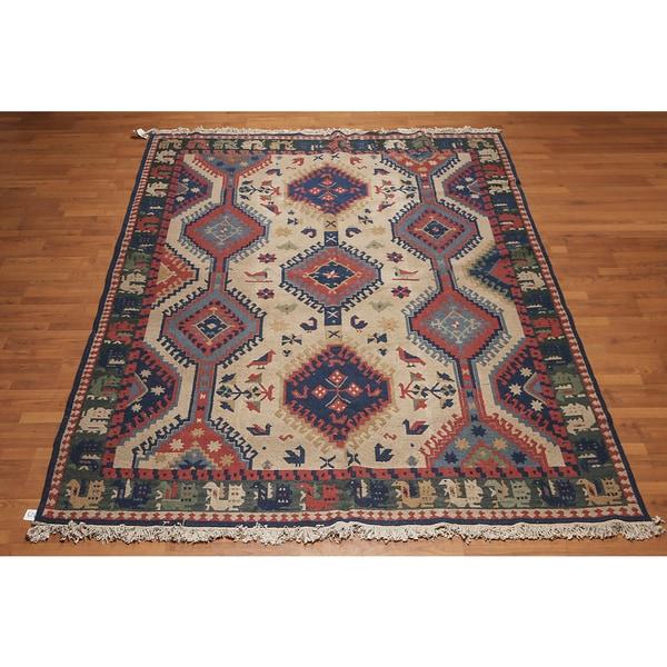 Nourison Nourmak Pure Wool Soumak Reversible Oriental Area Rug (8'x10')