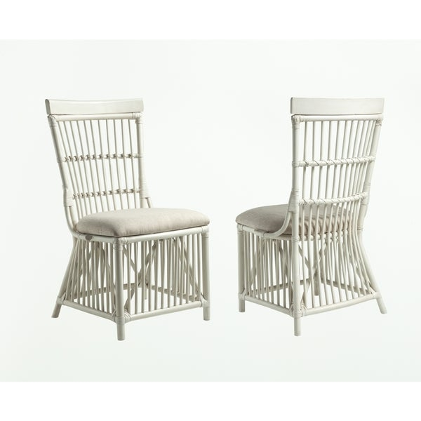 Millbrook White Rattan Chair by Panama Jack (Set of 2)  sc 1 st  Overstock.com & Shop Millbrook White Rattan Chair by Panama Jack (Set of 2) - On ...