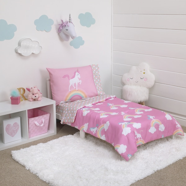 Little Tikes Rainbows & Unicorns 4-piece Toddler Comforter Set