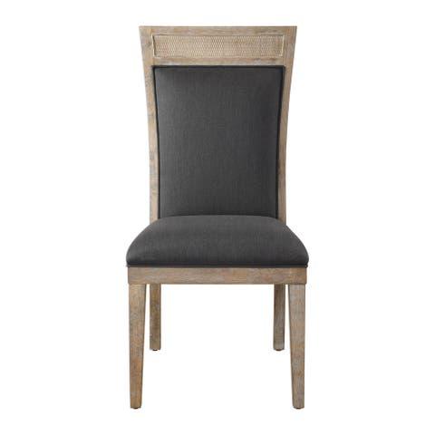Uttermost Encore Dark Grey Armless Chair