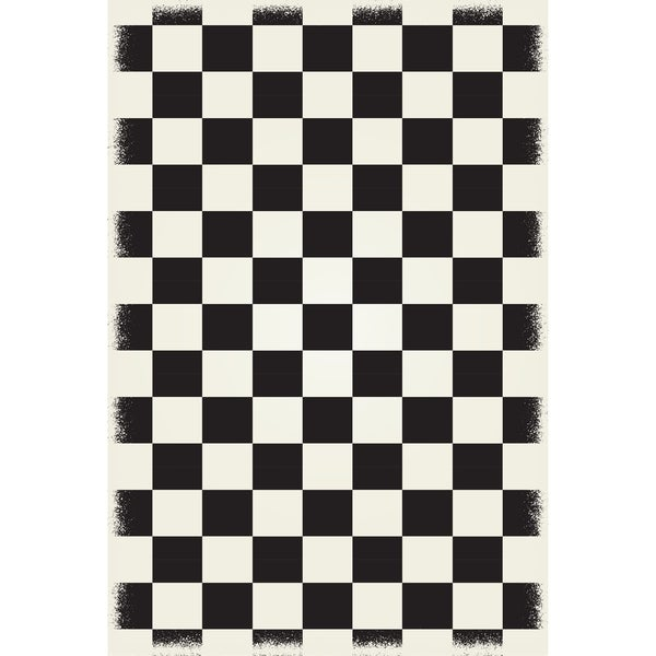 Shop English Checker Design Black Amp White Colors A