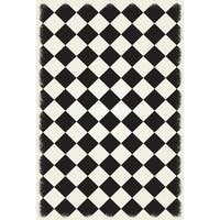 Diamond European Design -  Black & White colors, a weather aged finish- super durable &multilayer technical grade vinyl rug.