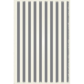 Strips of European Design - Grey & White colors, a weather aged finish- super durable &multilayer technical grade vinyl rug.