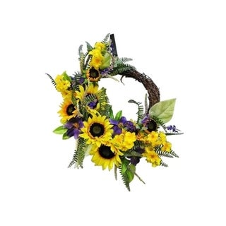 """24"""" Country Chic Sunflower wreath"""