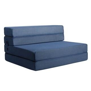 Milliard 4.5 Inch Tri-Fold Foam Folding Mattress and Sofa Bed - Twin XL