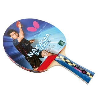 Butterfly Nakama S-4 Shakehand Carbon Blade, Wakaba 2.1mm Rubbers, ITTF Approved Table Tennis Racket with 2 Balls