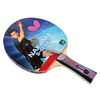 Butterfly Nakama S-7 Shakehand Sapphira 1.9mm Rubbers, ITTF Approved Table Tennis Racket with 2 Balls
