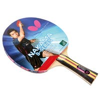 Butterfly Nakama S-2 Shakehand Carbon Blade, Sapphira 1.9mm Rubbers, ITTF Approved Table Tennis Racket with 2 Balls