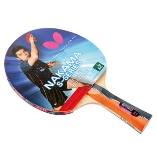 Butterfly Nakama S-1 Carbon Blade, Sriver 1.9mm Rubbers, ITTF Approved Table Tennis Racket with 2 Balls