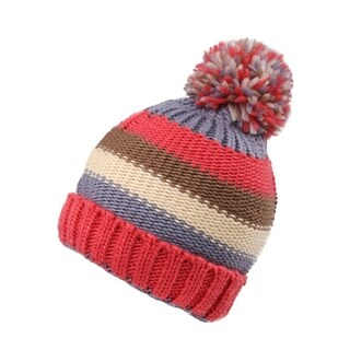 Kids Winter Warm Boys/Girls Pompom Beanie Hat, Striped 11