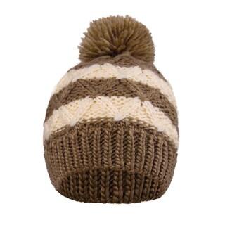 Kids Beanie Cable Knit Striped Hat Winter Beanie Cap