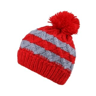 Kids Beanie Cable Knit Striped Hat Winter Beanie Cap