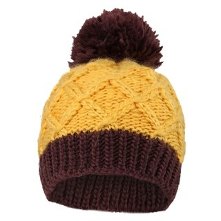 Kids' Super Yarn Pompom Striped Knit Beanie Hats