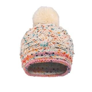 Girls Chunky Knit Beanie with Yarn Pompom