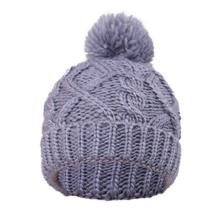 Kids' Super Chunky Cable Knit Beanie (Option: Grey - XS (4-6))
