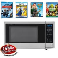 Sharp Movie Night with Orville Redenbachers Certified 1.1 cu. ft. Carousel Microwave Oven and 4 Blu-ray 3D Movies