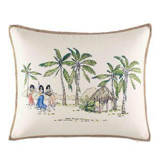 Nine Palms On The Beach Throw Pillow