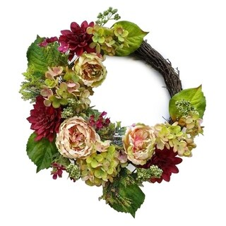 "22"" Country Chic Hydrangea wreath"