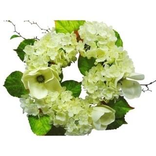 "20"" Magnolia and hydrangea wreath"