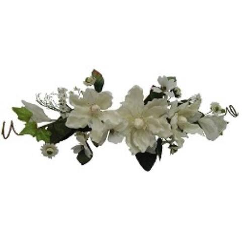 """26"""" Crinkle/sheer magnolia swag"""