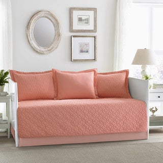 Laura Ashley Solid Coral Daybed Set (As Is Item)