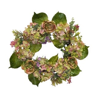 "22"" Peony and Eucalyptus wreath"