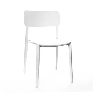 Viro White Modern Stackable Side Chair (Set of 4)