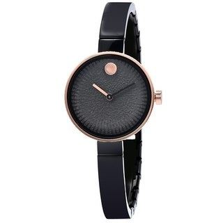 Movado Edge Black Stainless Steel Ladies Watch 3680025