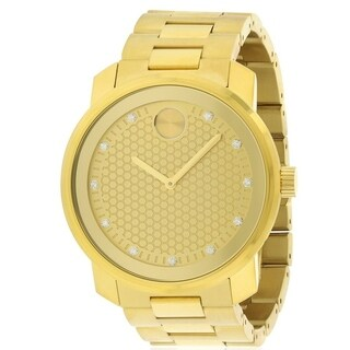 Movado Bold Gold-Tone Mens Watch 3600374