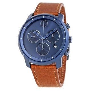 Movado Bold Leather Chronograph Mens Watch 3600476