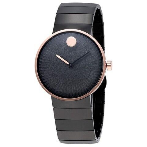 Movado Edge Black Stainless Steel Ladies Watch