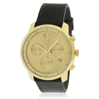 Movado Bold Leather Chronograph Mens Watch 3600477
