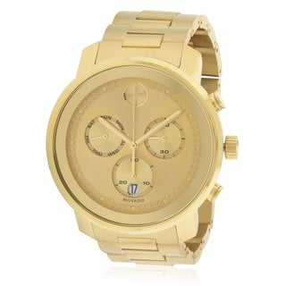 Movado Bold Gold-Tone Stainless Steel Mens Watch 3600485