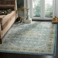 Safavieh Sutton Vintage Blue Wool Rug - 4' x 6'