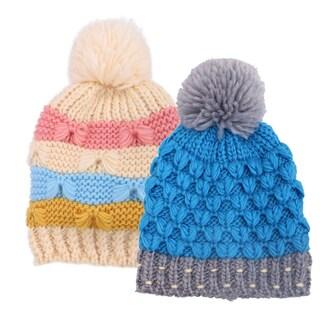 Kids and Toddlers' Winter Beanie,Blue Stripe/Black Stripe