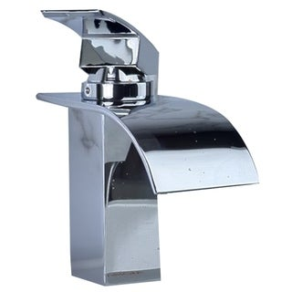 Single Handle Waterfall Lavatory Faucet with Curved Spout, Chrome