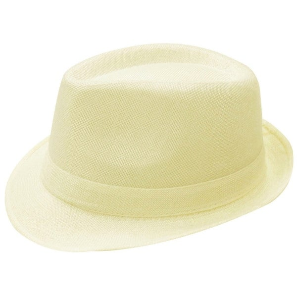 7ed87d0595a Shop Men   Women s Cotton Blend Trilby Golf Fedora Hat - On Sale - Free  Shipping On Orders Over  45 - Overstock - 19996274