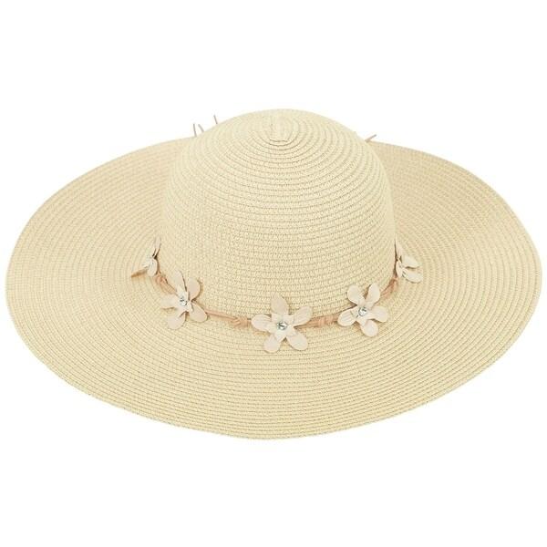 4f8a486b4b406 Shop Women s Summer Wide Brim Straw Sun Hat w  Chin Strap