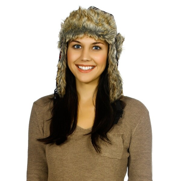 ec08a3c9141 Shop New Purple Faux Fur Ear Flap Winter Hat Ski Beanie Trapper Cap ...