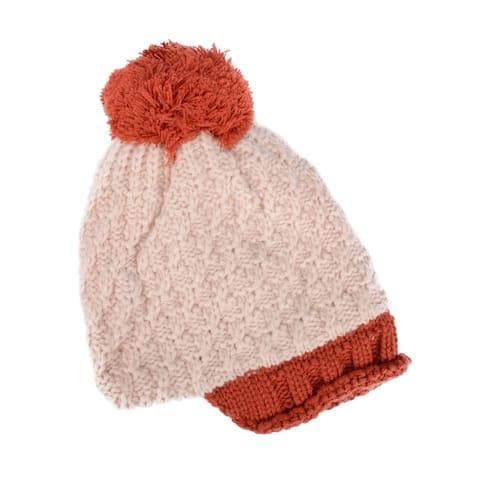 Starfish Pattern Child Knit Cap with Plush lining Cap Crochet Beanie