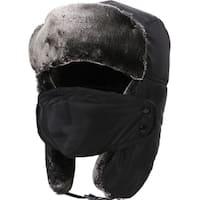 Women Men's Weatherproof Faux Fur Lined Trapper Hat w/ Earflaps