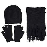 Men Winter Knitted Warm Gloves Scarf Hat Set
