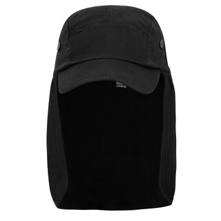 Safari Hat Sun Protection Outdoors Neck Flap Cap Denim Black (More options available)