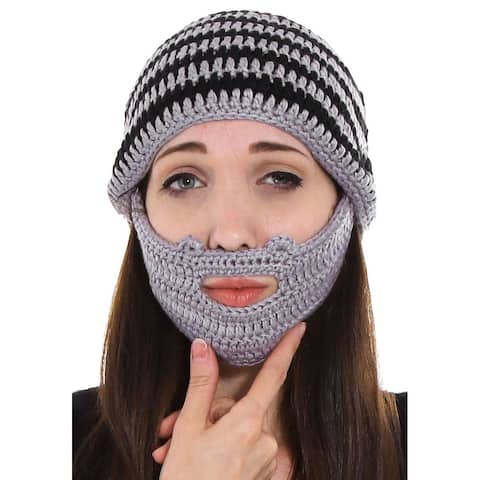 Women / Men's Beard Beanie Mustache Mask Face Ski Hat