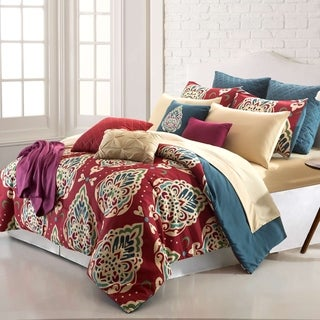 Amrapur Overseas Marrakesh 16-Piece Printed Reversible Comforter Set