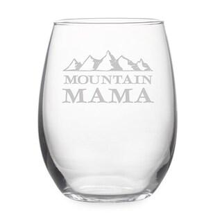 Mountain Mama Stemless Wine Glass & Gift Box