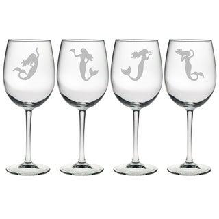 Mermaids Assortment Wine Glass (Set of 4)