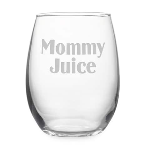 Mommy Juice Stemless Wine Glass & Gift Box