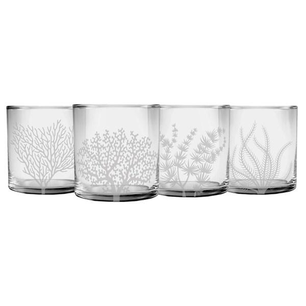 Coral Assortment Slim Rocks Glass (Set of 4). Opens flyout.