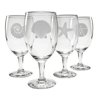 Seashore Assortment Footed Goblet (Set of 4)